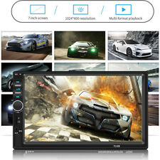 7Inch Double 2Din Car MP5 Player BT Touch Screen Stereo Radio HD Vehicle Camera