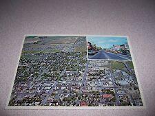 1970s AERIAL TOWN VIEW LONGMONT COLORADO VTG PHOTO POSTCARD