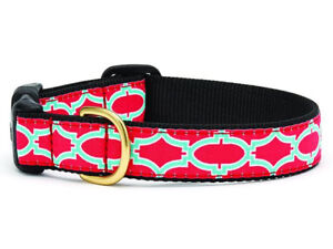 Up Country - Dog Design Collar -  Made In USA - Pink Fretwork - XS S M L XL XXL
