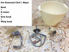 For Kenwood Chef Classic Mixer Genuine Attachment K Beater Dough Hook Whisk Bowl