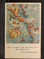Puerto Rico 1940-50s, Tarjeta Postal, usada/used, Postmarked