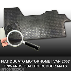 Durable Black Rubber Floor Mat Fiat Ducato 07-19 Tailored Quality Mats H/DUTY