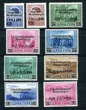 GERMANY OCCUPATION WW2 MONTENEGRO SCOTT 3NB1-6 & 3NCB1-3 PERFECT MNH