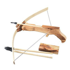 New Safety Wooden Arrow Quiver Kids Children Cross Bow Toy Archery Crossbow GYTH