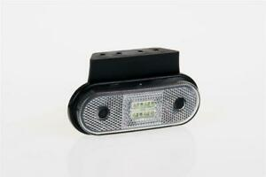 12/24V WHITE FRONT LED clearance marker light lamp with angle bracket and cab...