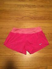 "Nike Women's Dri-Fit 4"" Woven Rival Running Pink Shorts 647681-616 Size XS-XL"