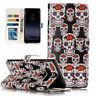 For Samsung Phones Embossed Varnish PU Leather Stand Card Wallet Flip Case Cover