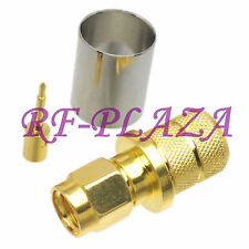 1pce Connector SMA male plug crimp RG8 LMR400 RG213 RG165 RG393 cable Gold