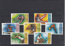 GRENADE GRENADINES 1976 JEUX OLYMPIQUES DE MONTREAL 7 TIMBRES YT 170 A 176