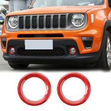 Front Fog Light Cover For Jeep Renegade 2018+ Exterior Accessories Carbon Fiber