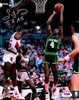 Sidney Moncrief autographed inscribed 8x10 photo NBA Milwaukee Bucks PSA HOF