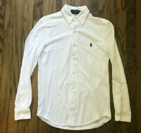 New Ralph Lauren Mens Featherweight Mesh Long Sleeve Button Front Shirt Size XS