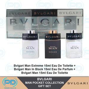 Bvlgari Man Pocket Spray Collection Gift Set Pack of 3 For Men