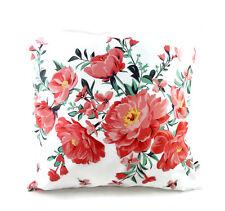 Kissen Blumen weiß lachs rosa  - 40 cm x 40 cm - bettina bruder®