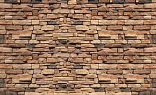 Fototapete Tapete Poster  Braune Backsteinmauer Imitation, Struktur und Textur