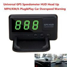 Car Time GPS Speedometer HUD Head Up MPH/KM/h Plug&Play Car Overspeed Warning D