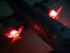 AMERICAN AIRLINES BATTERY OPERATED 1ST EDITION TWIN PROP JAPAN PLANE TOY WORKS