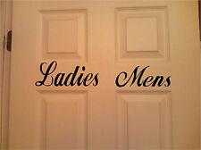 Ladies Men Restroom Sign Wall Sticker Wall Art Vinyl Decals
