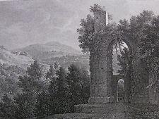 J. P. Veith 'paesaggio con rovine nei pressi di Roma; landscape, Rome' #7, 1822