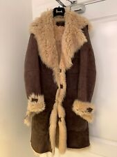 Diesel Black Gold 100% Ramskin Fur/leather jacket coat Size Medium.