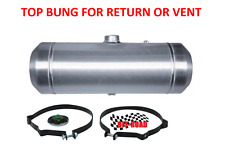8x33 Center Fill Spun Aluminum Gas Tank with Top 1/4 NPT Bung for Return or Vent