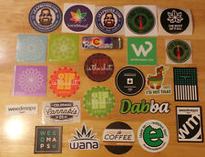 Assortment of 22 Collectible Marijuana Stickers (Pot Stickers ;-) Colorado +more
