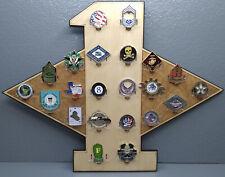 * Custom * 1st Sgt Diamond 17-Challenge Coin display / holder - wall mount