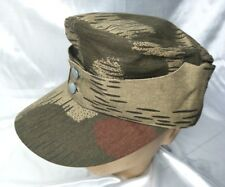 WWII GERMAN ARMY SWAMP CAMO FIELD CAP MILITARY HAT SIZE XL