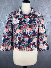 Penny Black Floral Bolero Jacket Size 10 Wedding Races 100% Cotton