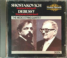 Shostakovich/Debussy THE MEDICI STRING QUARTET Nimbus CD UK Import