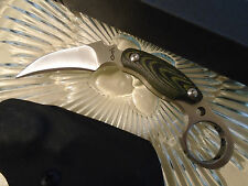 Kazutoshi Tanabe Micarta Karambit Claw Dagger Knife 8mm Full Tang Kydex Sheath