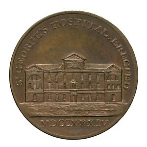 Middlesex Kempson's London Building Series Penny Token St George's Hosp.  D&H 54