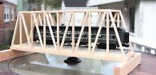 "O Gauge handmade hardwood thru truss bridge 24"" long for Lionel,MTH,Atlas etc.."