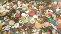 BEST 1 POUND LB Unsearched MIXED VINTAGE & NEW BUTTONS Lot Bulk Free Shipping