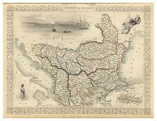 Turkey Istanbul Balkans Serbia Bosnia Greece illustrated map John Tallis ca.1851