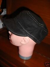 Little  Brownie black   corduroy  childs  visor  Hat Youth unisex New no tags