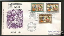 VATICAN-ITALY-TRAVELED FDC-NATALE 1962-1962.