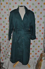 WORTHINGTON GREEN SEXY belted TRENCH ALL WEATHER  COAT WOMEN 12P EUC