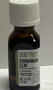 Aura Cacia CINNAMON LEAF 100% pure essential oil .5 fl oz
