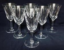 ANTICO 6 bicchieri da vino in cristallo INTAGLIATO ST. LOUIS BACCARAT CERDANYA