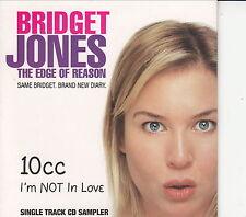 BRIDGET JONES / THE EDGE OF REASON - I'M NOT IN LOVE - SINGLE TRACK CD SAMPLER