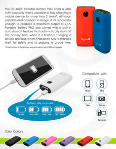 4400mAh USB 2.0A Output External Battery Portable Power Bank Phone Charger