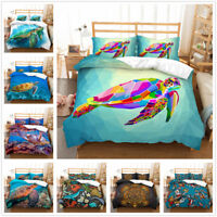 3D Ocean Colourful Turtle Duvet Cover Comforter Cover Bedding Set Pillowcase Set