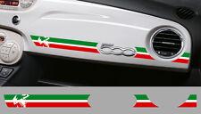 1 X BANDE TRICOLORE ITALIE TABLEAU DE BORD FIAT 500 AUTOCOLLANT STICKER BD536-5