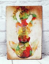 Sexy Guitar Girl Poster metal signs vintage Tin wall décor Personality Plaque