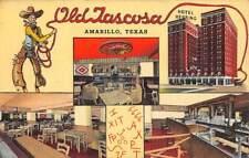 New listing Amarillo, Tx, Tascosa Night Club In Hotel Herring Adv Pc, Curt Teich Pub 1940's