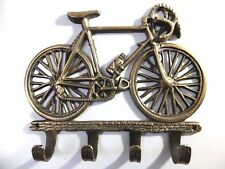 Vintage Antique Style Solid Brass Bicycle Wall Hooks Hanger. Key Coat Hat