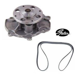 GATES Engine Water Pump & Serpentine Belt For 2014-2018 CADILLAC XTS V6 3.6L