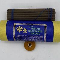 "ANCIENT TIBETAN NAGCHAMPA 30 4"" INCENSE STICKS IN HANDMADE PAPER nag champa"