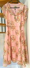 ☆Collectif Vintage Style Skull Print Dress (Missing Belt)☆Size XL/16☆Immaculate☆